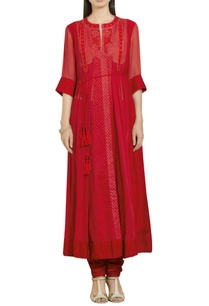 thread-embroidered-long-kurta-with-inner-pants
