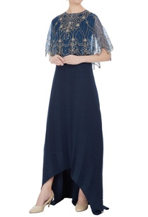 maxi-dress-with-embroidered-cape-top