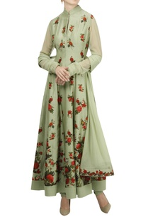pleated-floral-digital-printed-anarkali-set