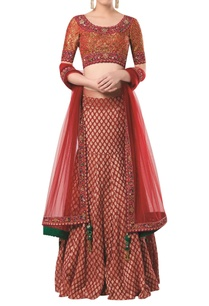 brocade-embroidered-lehenga-choli-with-dupatta