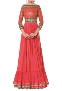 embroidered-anarkali-style-flared-gown