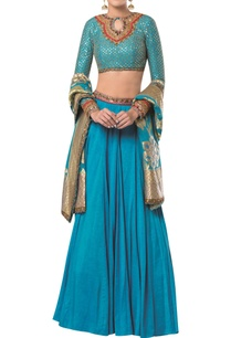 embroidered-blouse-with-lehenga-and-banarasi-dupatta