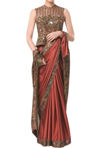 printed-sari-with-heavy-embroidered-blouse