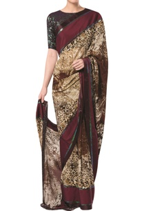 printed-sari-with-embellished-blouse