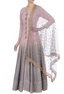 ombre-mukaish-lucknowi-jacket-anarkali-lehenga-set