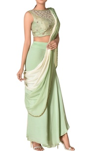 pre-draped-crepe-concept-sari-with-embroidered-blouse