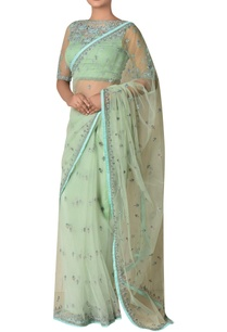 nylon-net-floral-embroidered-sari-with-blouse