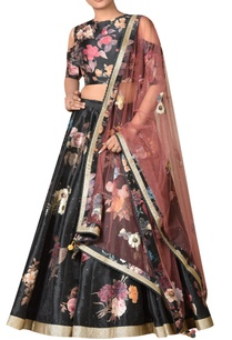 dupion-floral-lehenga-with-cold-shoulder-blouse-dupatta