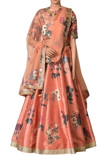 dupion-floral-lehenga-with-blouse-dupatta