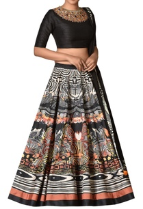 dupion-silk-lehenga-with-sequin-neck-blouse-dupatta