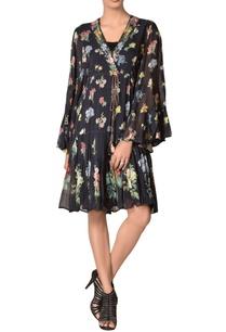 drop-waist-floral-printed-summer-dress