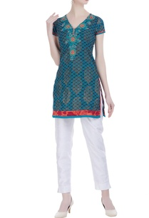 sea-green-cotton-printed-short-tunic