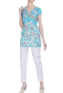 sky-blue-voile-printed-short-tunic