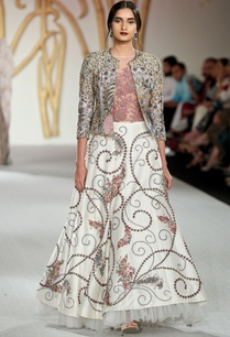 raw-silk-lehenga-with-floral-embroidered-jacket-blouse