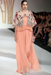 peach-layered-pleated-gown-with-short-jacket
