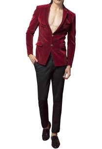velvet-blazer-with-crystalized-rayon-motif