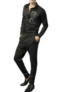 button-down-shirt-with-embellished-dragon