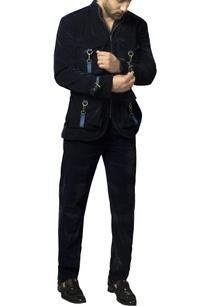velvet-safari-suit-set