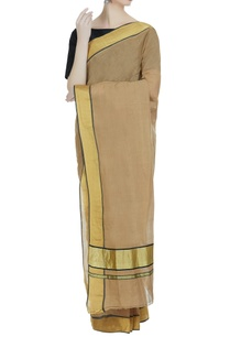 earthy-toned-pure-zari-work-handloom-sari-unstitched-blouse