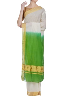 dual-color-handloom-cotton-sari-with-unstitched-blouse