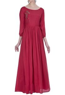 pleated-gown-with-zardozi-work