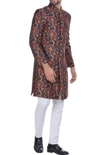 dual-color-printed-chanderi-silk-sherwani