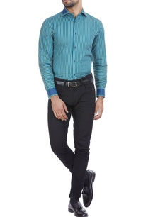 olive-green-cotton-shirt-with-blue-stripes