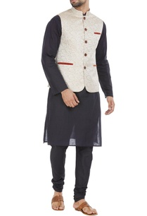 beige-blended-velvet-trim-nehru-jacket