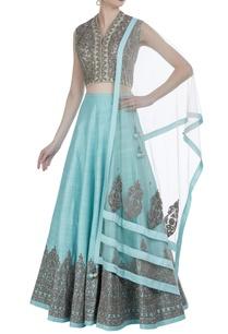 aari-embroidered-raw-silk-lehenga-set