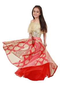 layered-lehenga-with-off-shoulder-blouse