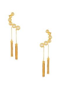 cuff-style-dangling-tassel-earrings