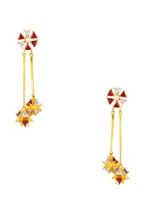 floral-shape-dangling-earrings