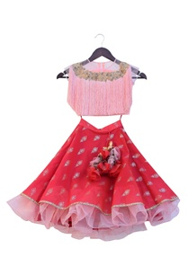 pink-tassel-crop-top-with-frilly-skirt