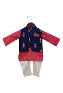 embroidered-nehru-jacket-with-kurta-and-churidar