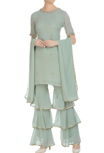 embroidered-short-kurta-with-sharara-pants-and-dupatta
