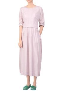 pleated-yoke-maxi-dress