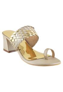 metallic-kolhapuri-heels-sandals