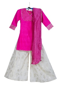 embroidered-yoke-kurta-with-palazzo-and-dupatta