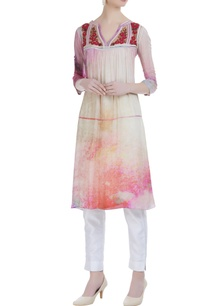 georgette-embroidered-yoke-tunic