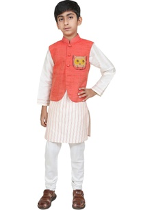 owl-motif-embroidered-jacket-with-kurta-and-churidar