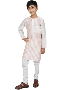 stripe-detail-kurta-with-churidar
