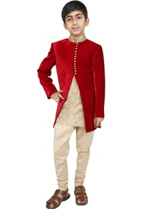bandhgala-jacket-with-kurta-and-churidar