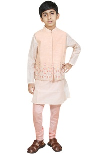 threadwork-embroidered-jacket-with-kurta-and-churidar