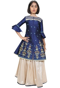 embroidered-jacket-kurta-with-lehenga
