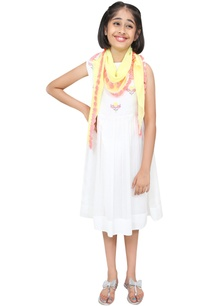 threadwork-embroidered-dress-with-scarf