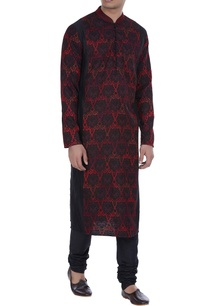 embroidered-dual-tone-kurta-with-churidar