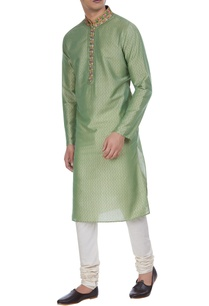 block-print-cotton-silk-kurta