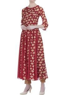 crimson-silk-printed-multi-godet-long-tunic