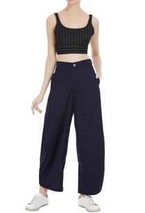 pinstriped-high-waist-pants