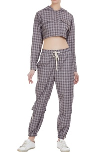 checkered-hoody-crop-top
